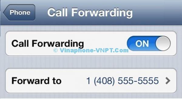 Bật chuyển cuộc gọi Vinaphone trả sau trên IOS