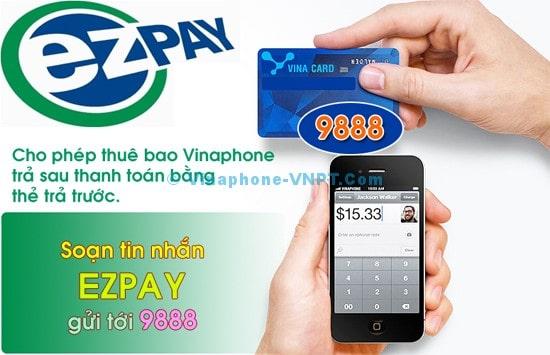 Thanh toán cước VinaPhone trả sau bằng thẻ cào EZpay