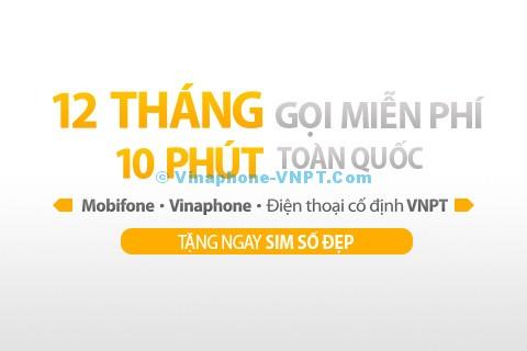 gói cước Vinaphone trả sau gọi miễn phí 10 phút 3 mạng