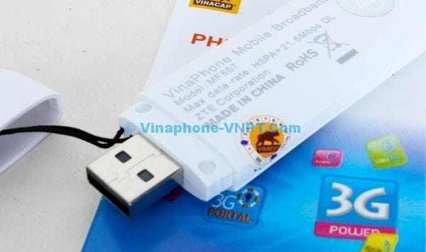 Vinaphone 3G trả sau tặng EZCom MF667