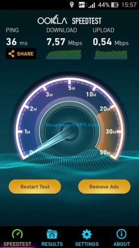 Tốc độ 3G Vinaphone trả sau