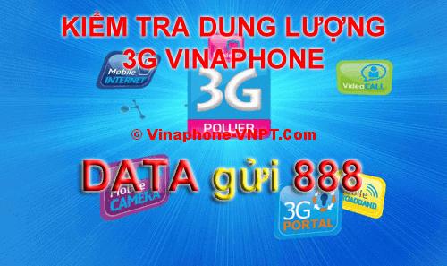 Kiểm tra dung lượng 3G Vinaphone
