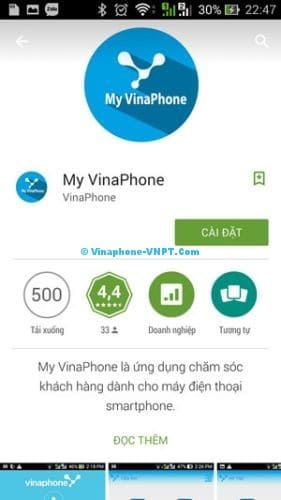 Cài đặt ứng dụng My Vinaphone - Bước 2