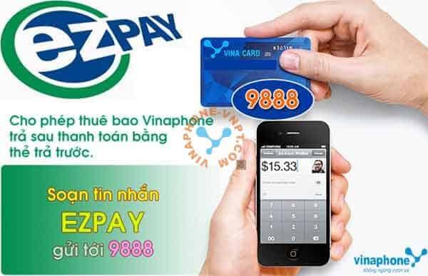 Thanh toán cước VinaPhone trả sau bằng EZpay